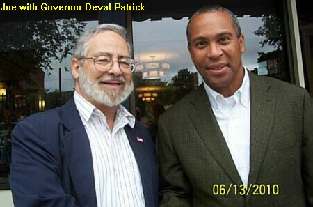 With Governor Deval Patrick, 2010